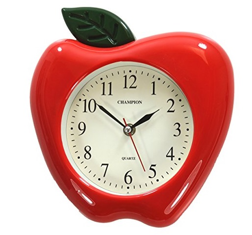Juicy Red Apple Kitchen Wall Clock