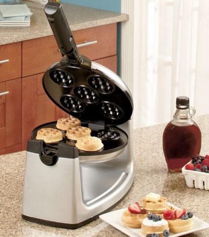 Rotating Mini Belgium Waffle Maker
