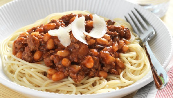 Beef and Bean Spaghetti Bolognese