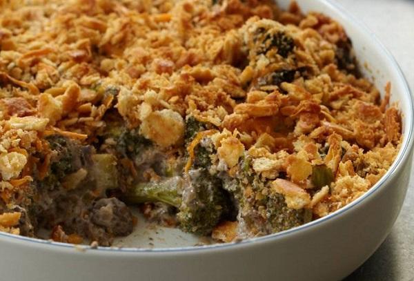 Broccoli and Wild Mushroom Casserole