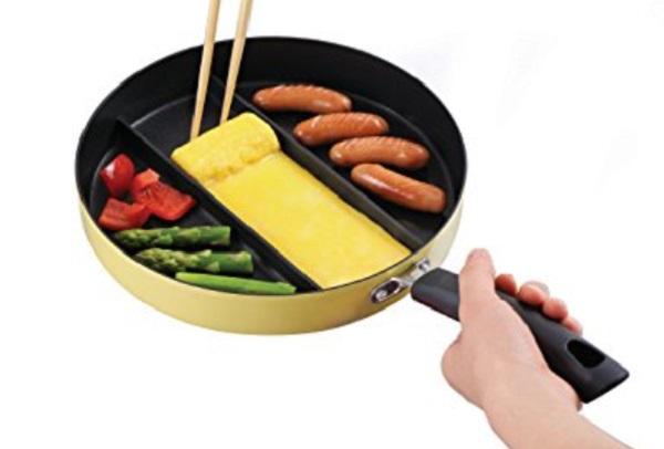 CuteZCute 3-Section Nonstick Frying Pan