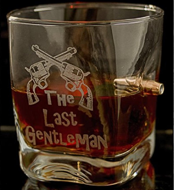 Last Man Standing Real 0.308 cal Bullet Whiskey Glass