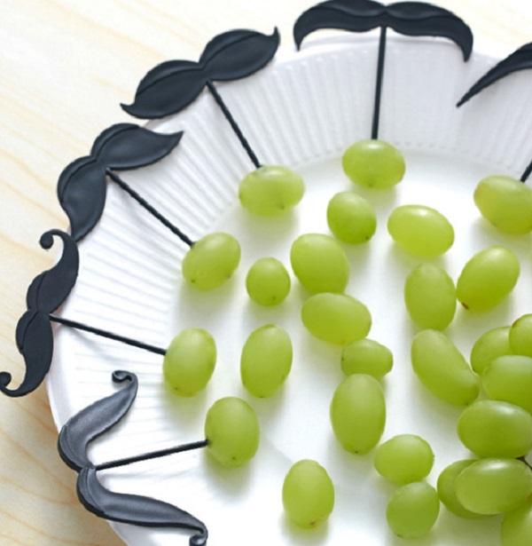 Moustache Fruit Forks