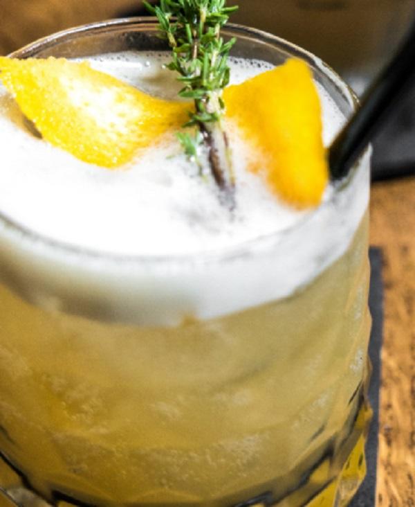 Irish Whiskey Thyme Sour
