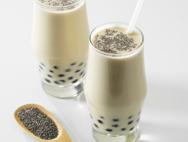 Chia Coconut Milk Bubble Tea