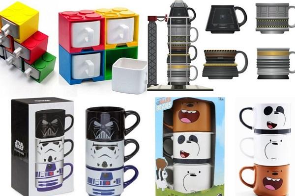 Ten Unusual Stackable Mugs That Instantly Make Warm Drinks Fun