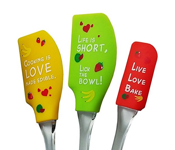 Baking Fun Set of 3 Silicone Spatulas