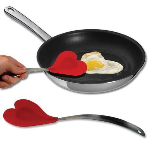Heart Shaped Silicone Spatula