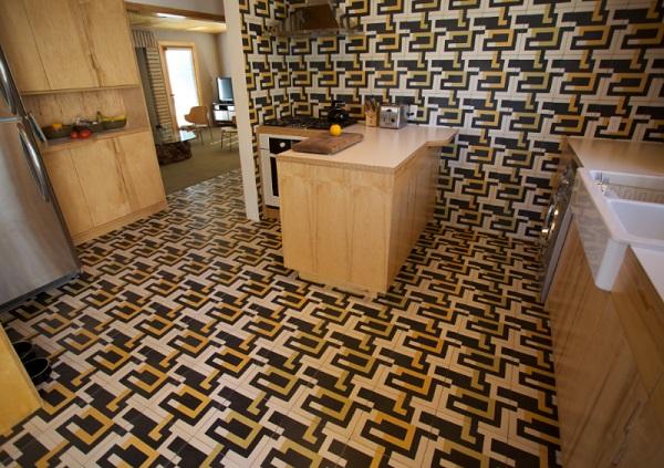Crazy Tiles Kitchen Floor Design