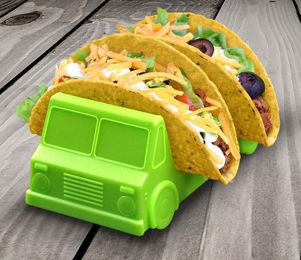 Taco Truck Taco Holder (Green and Orange)