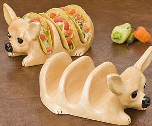 Chihuahua Ceramic Taco Holder
