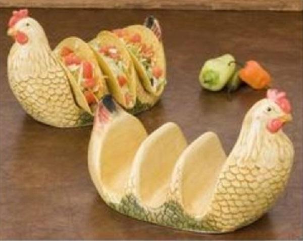 Chicken Ceramic Taco Holder