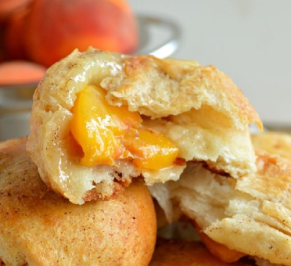 Peach Pie Biscuit Bombs