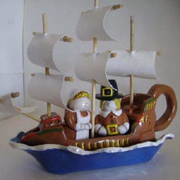 Pilgrim Boat Gravy Boat