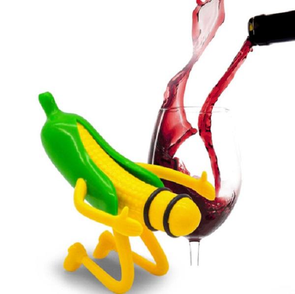 Mr Corn Novelty Bottle Stopper