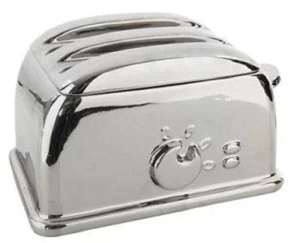 Ben De Lisi Silver Toaster-shaped Bread Bin