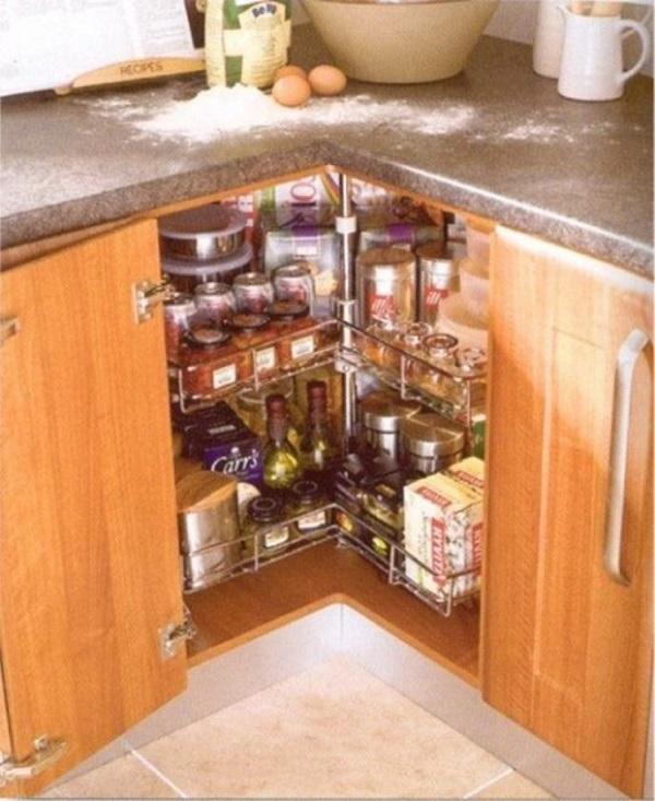 Built-in Herb Rotator Kitchen Corner Unit