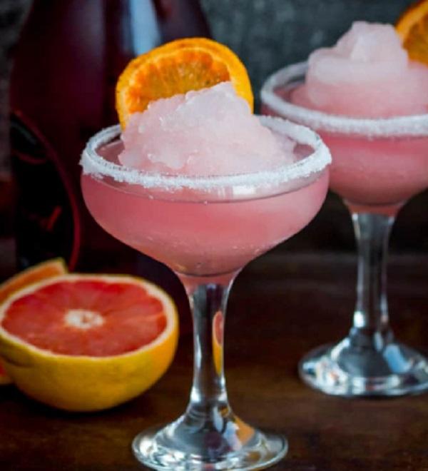 Frozen Pink Grapefruit Prosecco Cocktail