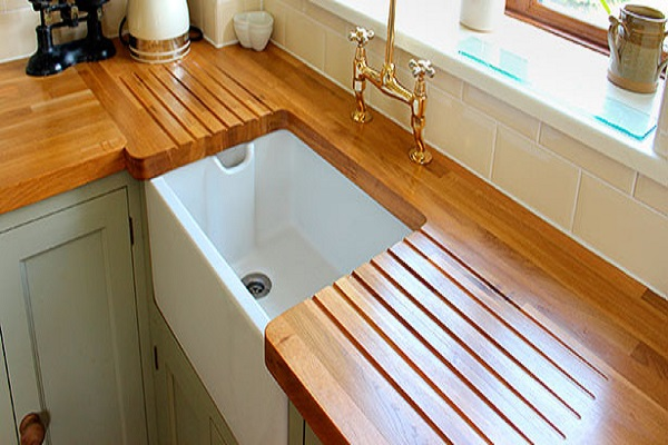 Kitchen Worktops Made With Wood