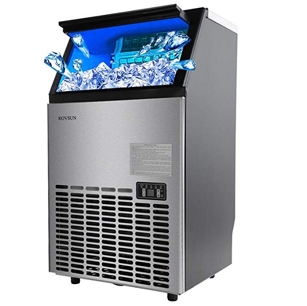 Rovsun Stainless Steel Commercial Ice Maker