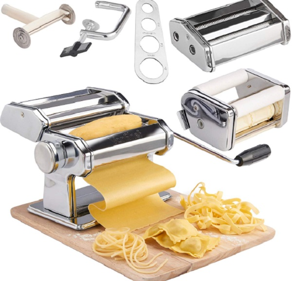VonShef 3-in-1 Stainless Steel Pasta Maker