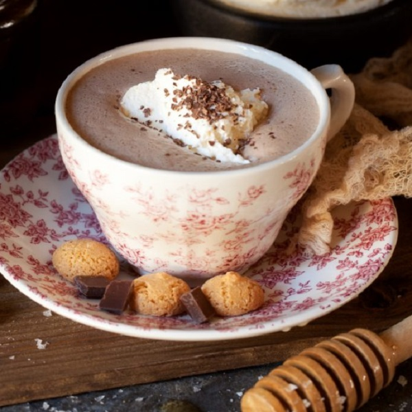 Salted Honey Hot Chocolate