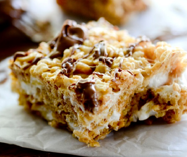 Cookie Butter Rice Krispies Treats