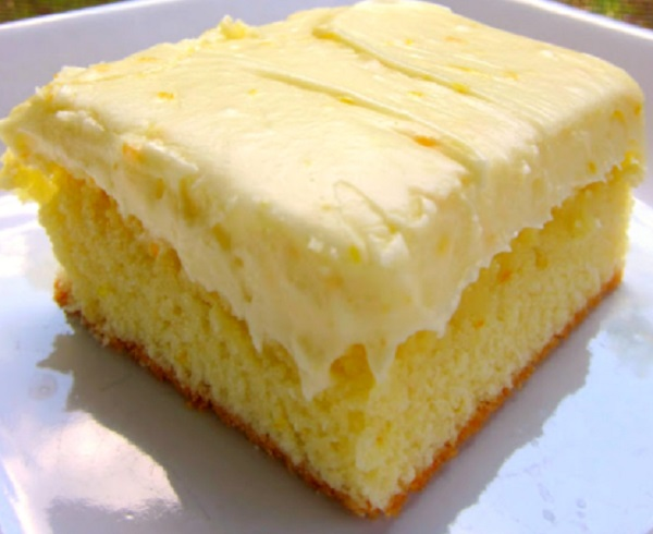 Orange Cake with Cream Cheese Frosting