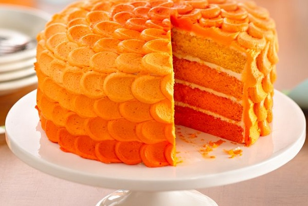 Tangerine Ombre Orange Cake