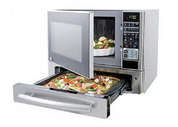 Microwave with a Built-in Pizza Oven