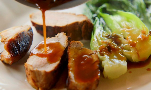 Grilled Pork Tenderloin With Baby Bok Choy