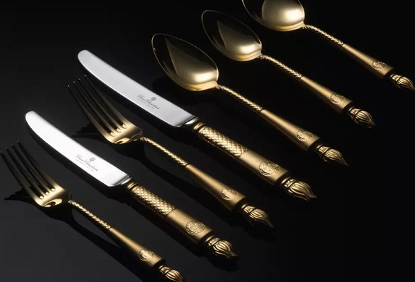 Arthur Price Clive Christian Empire Flame All Gold - 125 Piece Cutlery Set
