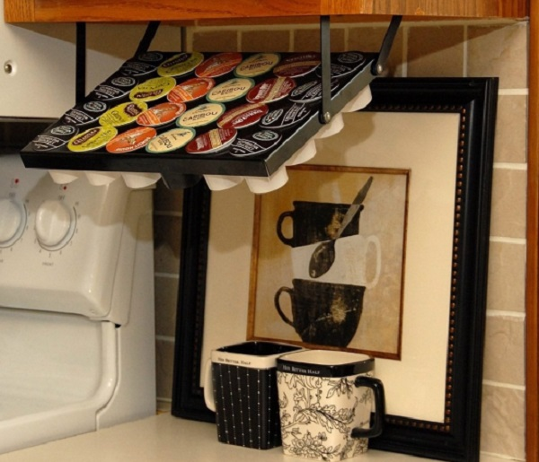 Under Kitchen Cabinet Coffee Pod Holder