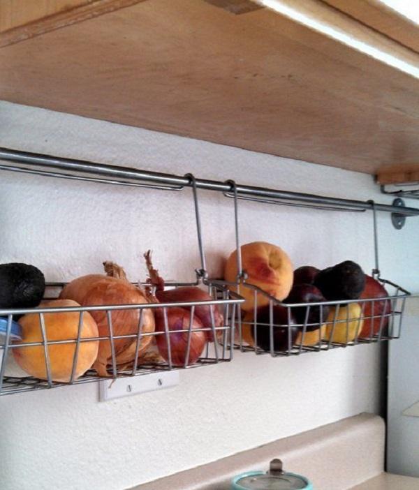 Under Kitchen Cabinet Hanging Fruit and Vegetable Cages
