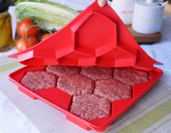Burger Master Innovative 8-in-1 Burger Press & Freezer Container