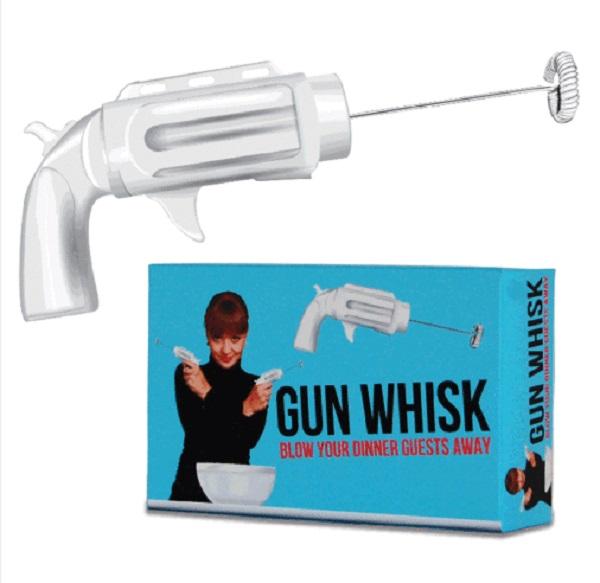 Gun Shaped Egg Whisk