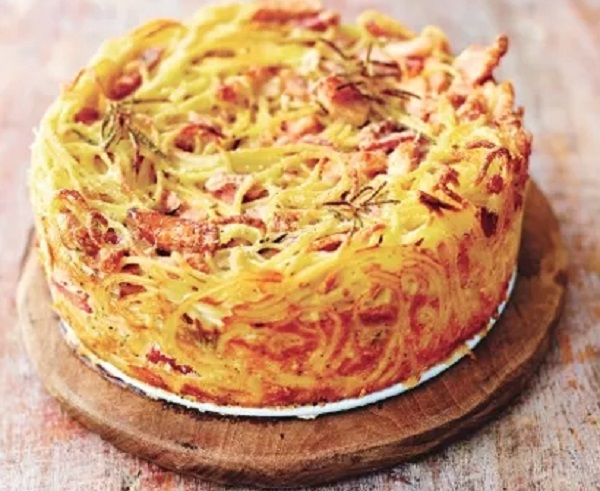 Pasta Carbonara Cake