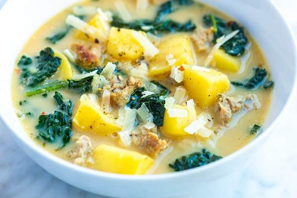 Easy Sausage Potato Soup
