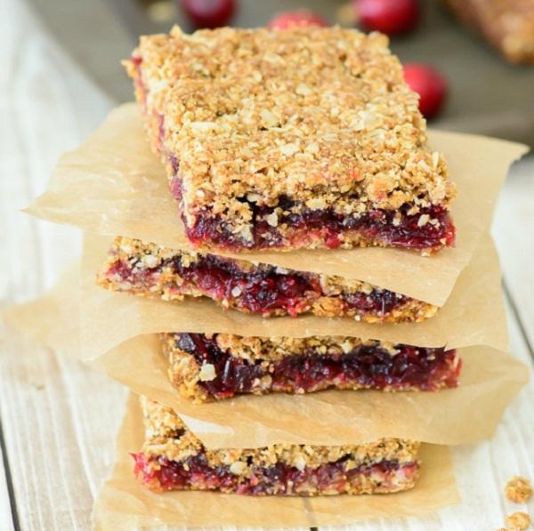 Gluten Free Cranberry Oat Bars