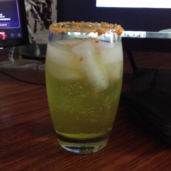 Mountain Dew Margarita with a Doritos Rim