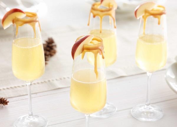 Caramel Apple Mimosas