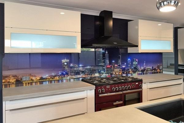 City Lights Picture Kitchen Splashback Design