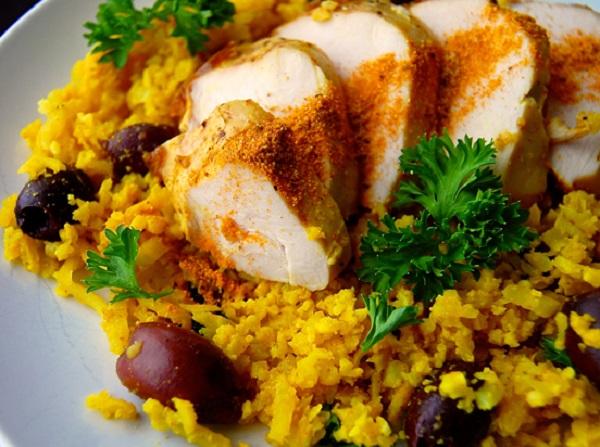 "AIP Friendly Curry Cauliflower ""Rice"""