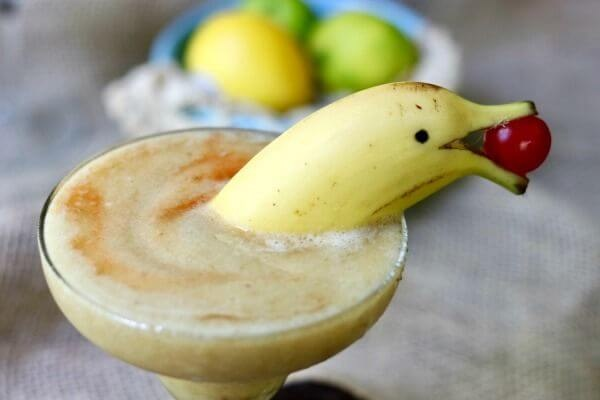 Frozen Banana Daiquiri Cocktail
