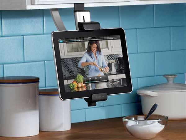 Adjustable Tablet Holder for the Kitchen