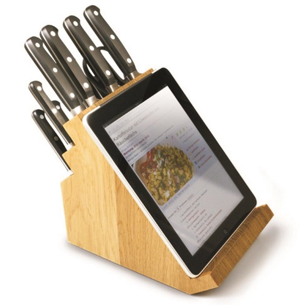 Victorinox Kitchen Knife Block with Tablet Holder
