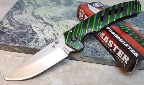 BushMaster Green Venom Folding Kitchen Knife