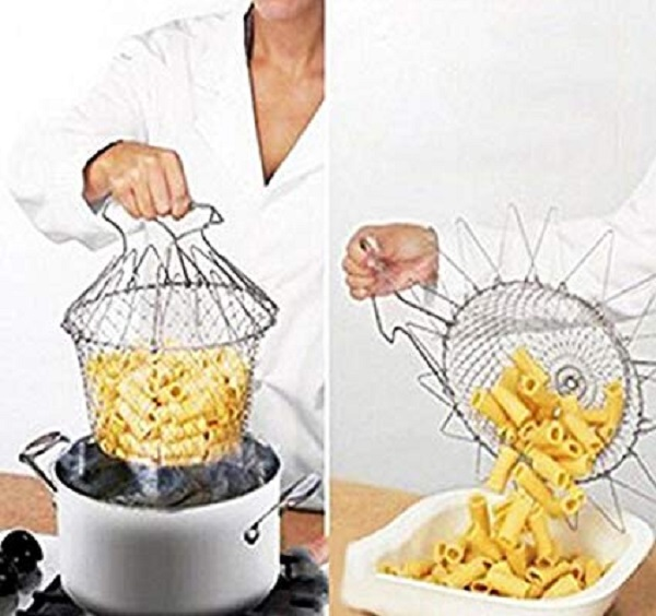 Foldable Deep Frying Chef Basket