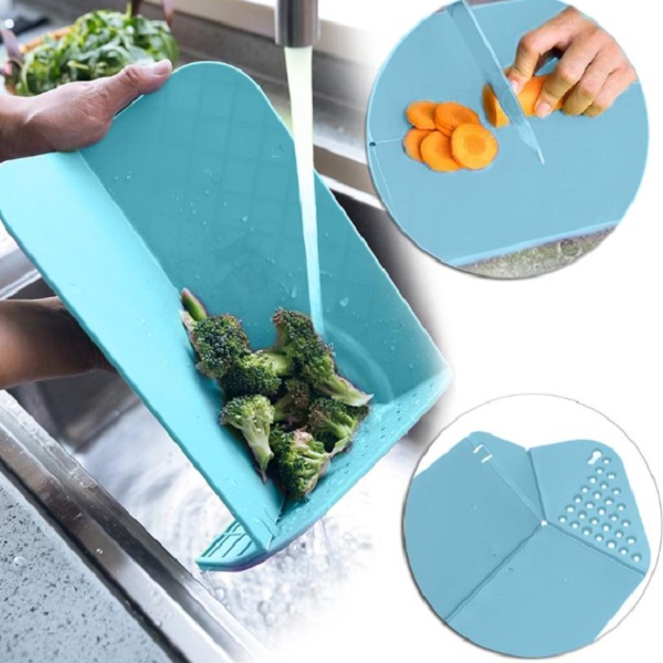 Foldable Chopping Board With Drainer