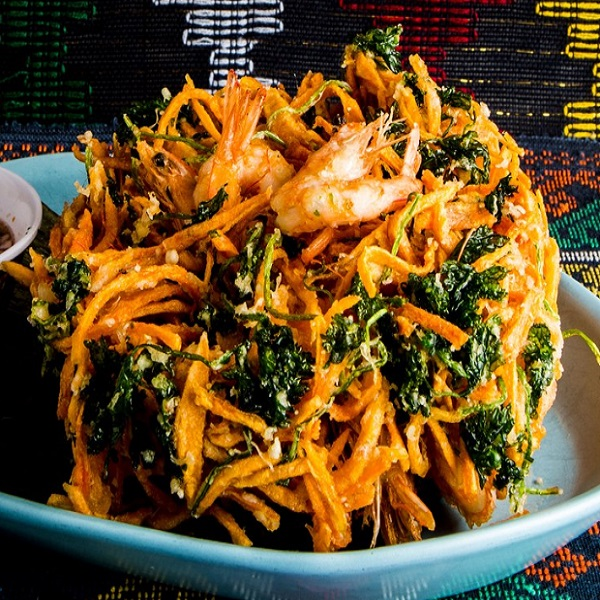 Shredded Sweet Potato and Carrot Fritters